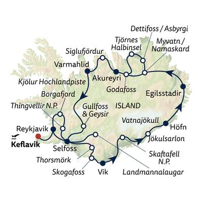 Busreise Hochland, Gletscher, Naturwunder