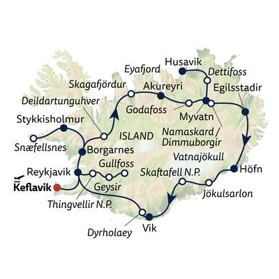 Autoreise Winterreise Naturschauspiel Island