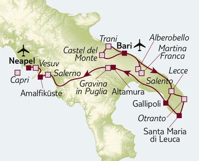 Autoreise Italiens sonniger Süden