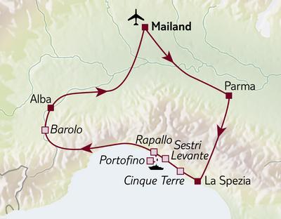 Autoreise Cinque Terre & Piemont