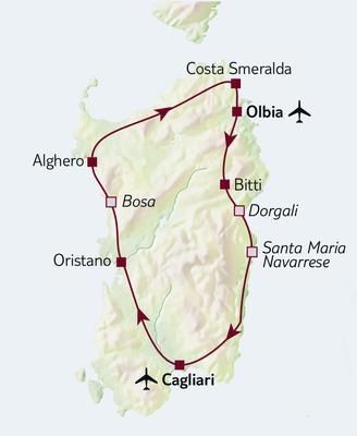 Autoreise Sardiniens Küstenträume, ab/bis Olbia