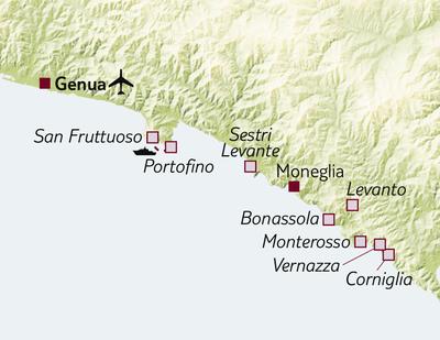 Bus-/Wanderreise Wandern von Portofino bis Cinque Terre