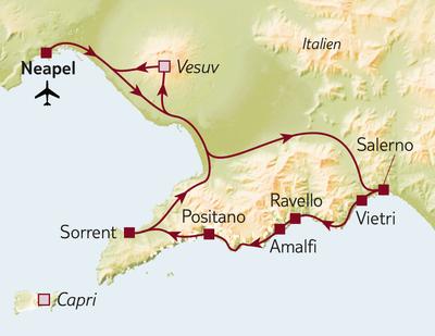 Autoreise Stippvisite Neapel & Amalfiküste