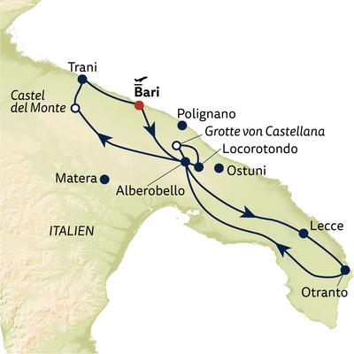 Busreise Apulien - verborgenes Juwel Italiens