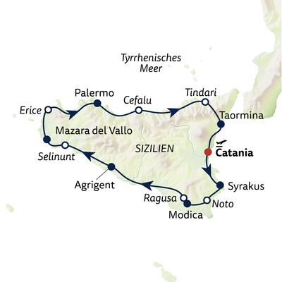 Autoreise Rund um Sizilien