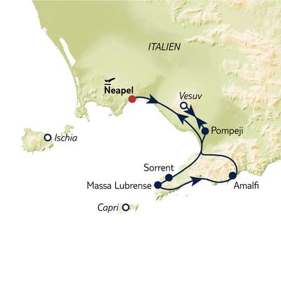 Busreise Höhepunkte am Golf von Neapel