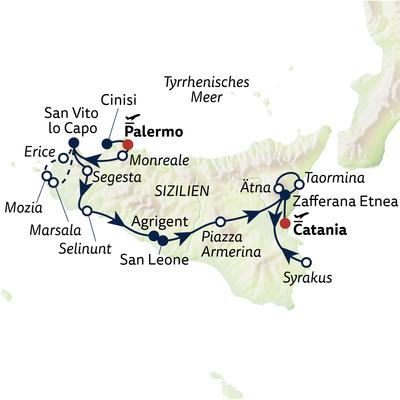Busreise Sizilien - Land des ewigen Frühlings