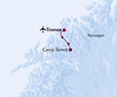 Aktivreise Nordlicht, Huskys & Wildnis