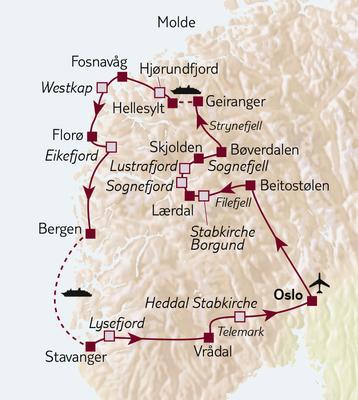 TUI Tours: Busreise Norwegens Kaleidoskop