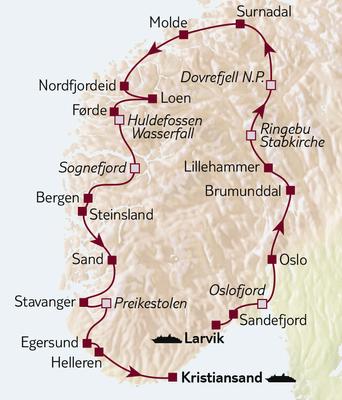 Autoreise Norwegens Küstenvielfalt