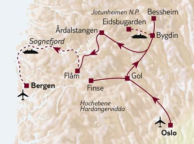 Bus-/Wanderreise Wandern zwischen Fjord & Fjell