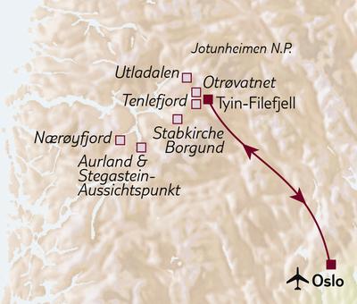 Wanderreise Wandern im Jotunheimen-Gebirge