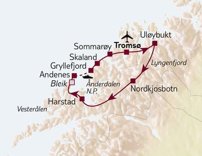 Autoreise Paradiese nördlich des Polarkreises