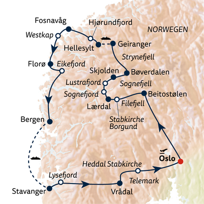 Busreise Norwegens Kaleidoskop