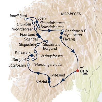 Autoreise Norwegen zum Durchatmen