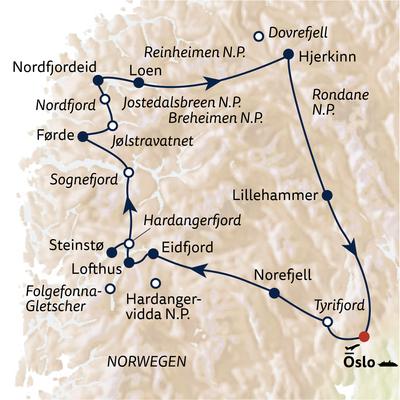 Autoreise Norwegen - Meisterwerk der Natur