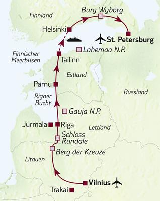 Busreise Bis nach St. Petersburg