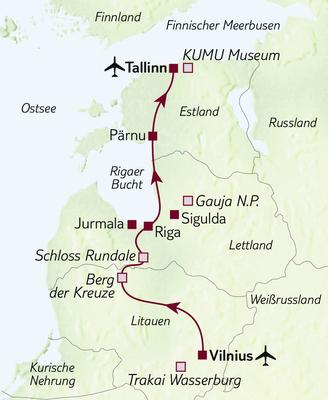 Busreise Höhepunkte des Baltikums