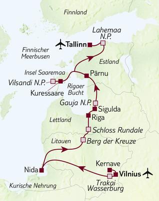 Wanderreise Drei-Länder-Wanderung Baltikum