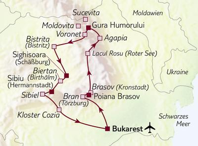 Busreise Transsilvanien, Dracula und Bukarest