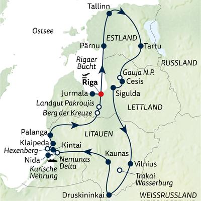 Busreise 16 Tage, drei Länder, ein Erlebnis