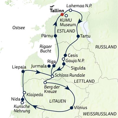 Busreise Baltische Impressionen