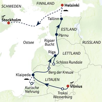 Busreise Die Perlen des Baltikums