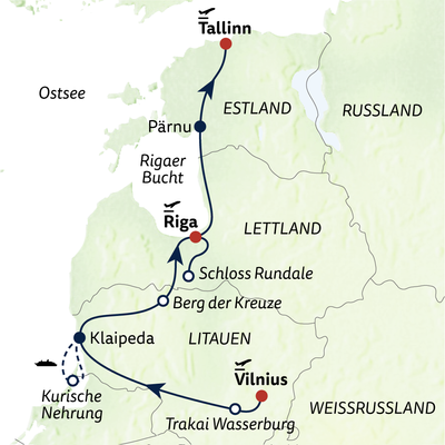 Busreise Baltikum kompakt