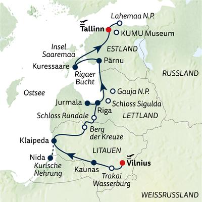 Autoreise Baltikum entspannt mit Insel Saaremaa