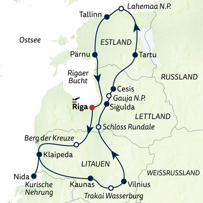 Autoreise Baltischer Roadtrip