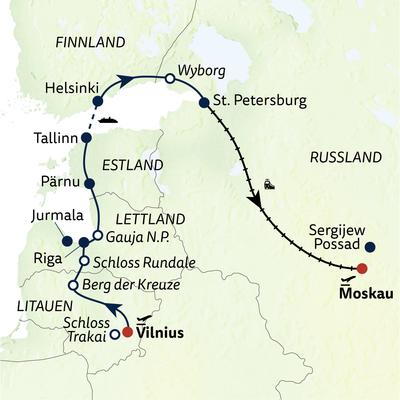 Busreise Baltische & Russische Schätze