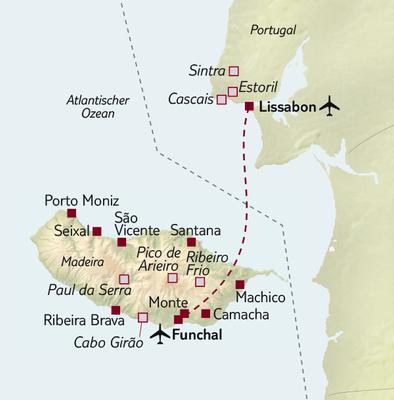 Busreise Lissabon und Madeira - Weiße Stadt und Blumeninsel