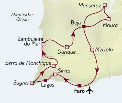 Autoreise Algarve & Alentejo