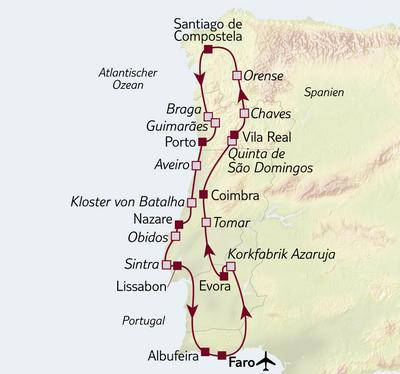 Busreise Portugal ausführlich