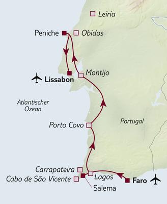 Autoreise Ferienhaus-Urlaub in Portugal 2020