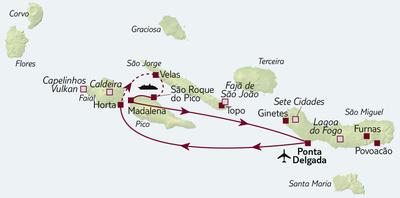 Autoreise Azoren – Naturvielfalt entdecken inkl. Mietwagen Kat. CH (Ford Fiesta o.ä)