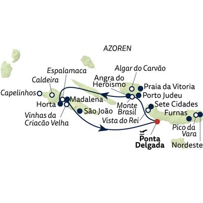 Autoreise Azoren - Perlen im Atlantik inkl. Mietwagen Kat. CH (Ford Fiesta o.ä)