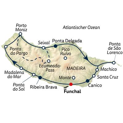 Autoreise Naturgenuss Madeira