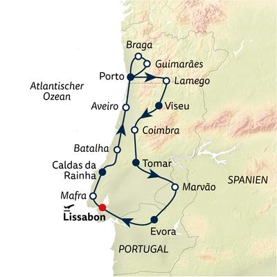 Autoreise Das Herz Portugals - privat geführt