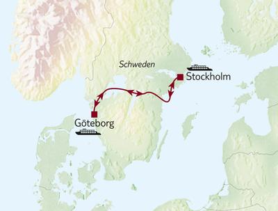 Göta Kanal kompakt 4-Tage Göteborg-Stockholm / MS Juno - Tour A