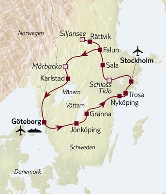 Autoreise Klassisches Schweden Tour A