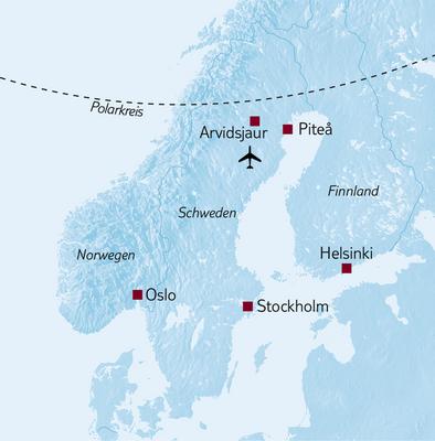 Aktivreise Winterwochenende Schweden