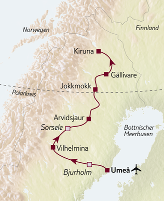 Autoreise Unberührtes Lappland 2020