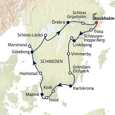 Busreise Schwedens Höhepunkte