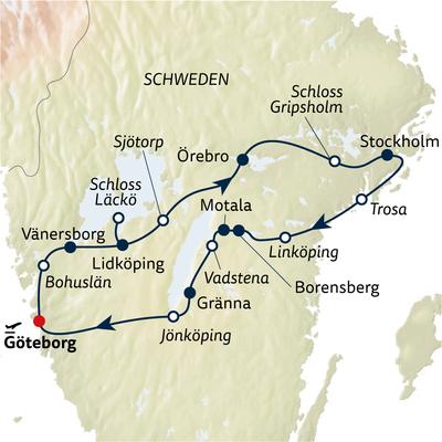 Autoreise Romantik entlang des Göta Kanals