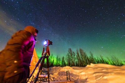 Aktivreise Nordlichtjagd mit Kamera & Aurora Spa