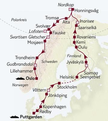 Autoreise Große Skandinavienreise