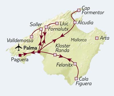 Busreise Bezauberndes Mallorca
