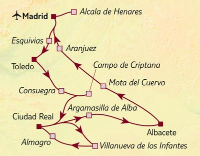 Autoreise Im Land von Don Quichote