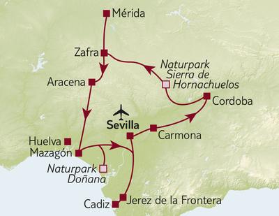 Autoreise Andalusien & extremadura mit Flair